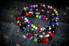14 argent et multicolore