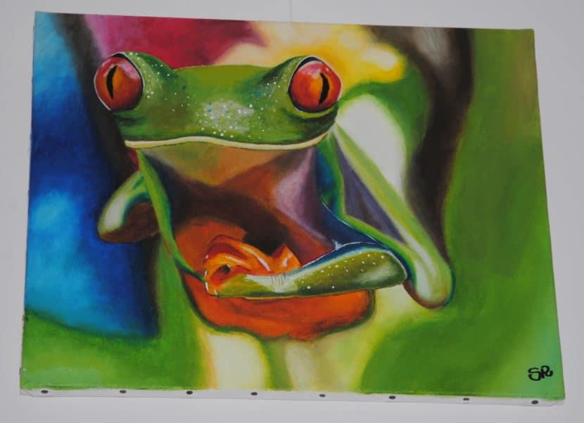 tableau grenouille bonheurs de sophie